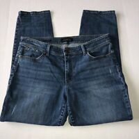 "Talbots Women's Flawless Five Pocket Boyfriend Jeans Size 12 Inseam 28"" Med Wash"
