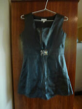 Lovely GRACE HILL ladies dark grey shimmery sleeveless top (size 8)