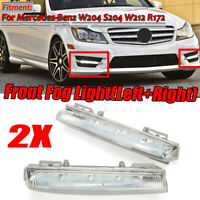 Pair Front Bumper DRL Fog Light For Mercedes-Benz W204 W212 R172 C250 C280 C350