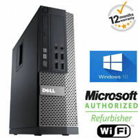 SUPER FAST WINDOWS 10 DELL OPTIPLEX COMPUTER PC INTEL 8GB 500GB + WIFI + OFFICE