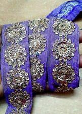 Vintage Antique Border Sari Trim Lace RARE ZARI FULL SAREE 24 FEET CRAFT DOLL