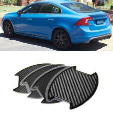 FOR Volvo S60 Sedan T5 T6 Carbon texture Side Door Handle Bowl Sticker 4PCS