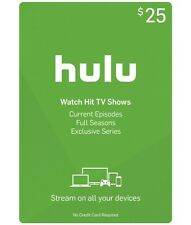 $25 Hulu Gift Card for Hulu and Hulu Plus Subscriptions! Email Delivery YES!