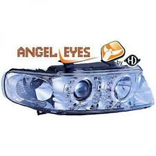 LHD Projector Headlights Pair Angel Eyes Clear Chrome For Seat Toledo Leon 99-04