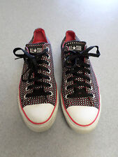 Converse All Star red and white stars sneakers. Women's 11