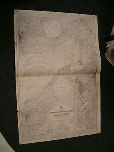 Vintage Admiralty Chart 1176 UK - NEWPORT to BRISTOL 1939 edn