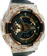 BLING-SHOCK - Custom Casio G-SHOCK GA110 - Black/Rose/Crystals - NEW