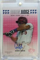 Rare: 2013 Leaf Rize Draft Pink Autograph Aaron Judge Rookie RC #36, SP of 200 !