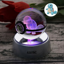 Pokemon Squirtle 3D LED Crystal Pokeball Night Light Table Desk Lamp Crafts Gift