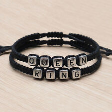 Couple Handmade Bracelets  King And Queen His Her Charm Bracelet Bangle Gift hc