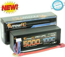 ArrowRC 4s 14.8V 5000mah 100c Lipo Battery 5mm Tubes Hard Case 38mm