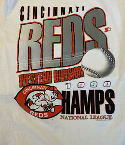Cincinnati Reds Western Division 1990 Champs NM Vintage World Series Champions