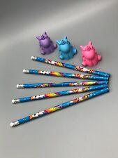 Great 8 Piece Unicorn Pencil & Unicorn Eraser Set!!!