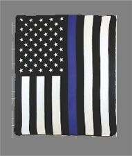 Thin Blue Line Police Lives Matter Usa Plush 50 x 60 Polar Fleece Blanket Throw