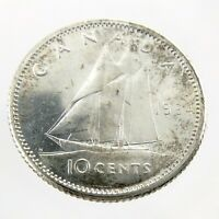 1964 Canada Ten 10 Cents 800 Silver Dime Uncirculated Coin Fresh From Roll A247