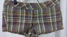 Paris Blues Shorts Plaid Brown Gold Size 7 Cute