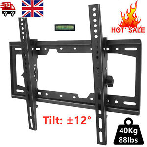 TV Wall Bracket Mount Slim Tilting Plasma LCD for 26-55'' Inch LED LCD UK STOCK