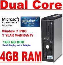 DELL DUAL CORE  4 GB RAM CHEAP WINDOWS 7 DESKTOP PC COMPUTER DUAL DISPLAY