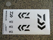 White & Black Daiwa Fishing Sticker Set - 8 stickers total - 8 x 4 inches