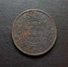 India 1877half Anna Coin