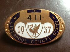 More details for 1937 grand national horse race aintree liverpool county stand  badge