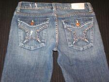 Peoples Liberation Jeans Janine Flare Star Flap Pocs Sz 25  (Run Big Sz 26 fit)