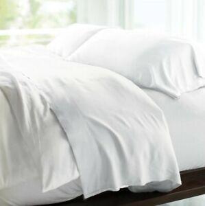 "Cariloha Resort Bamboo KING 4 Piece Sheet Set 100% Viscose Deep Fit 18"" White"