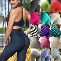 Women's Anti-Cellulite Yoga Pants Push Up Leggings Sports Fitness Gym Trousers O