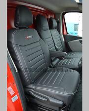 Vauxhall / Opel Vivaro Waterproof Leather Look Quilted Seat Covers Custom Logos