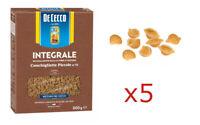 PASTA DE CECCO CONCHIGLIETTE GRANO DURO INTEGRALE FONTE DI FIBRE 5 PEZZI 2,5kg
