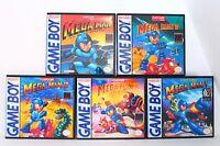 Mega Man I, II, III, IV, V, 1-5 Custom Cases Set *NO GAMES* (Game Boy GB)