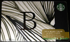 "STARBUCKS US 2014 GIFT CARD ""LETTER B"" A to Z Alphabet Series NEW 99 NO VALUE"