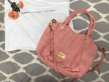 Marc Jacobs Large Pink Leather Classic Q Francesca Tote Hobo Bag