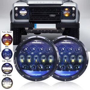 For LAND ROVER DEFENDER 130W LED Head light Headlight 7 inch 12V OSRAM pair 2pcs