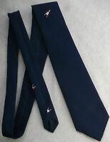 Vintage Tie MENS Necktie Company Logo Crested PILOT AIRPLANE AEROPLANE AVIATION