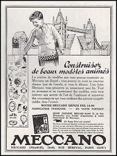 Publicité MECCANO Jouet Ancien Jeu de Construction Old Toy vintage ad 1931