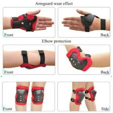 6/7pc Kids Girl Boy Safety Protective Knee/Elbow/Wrist Guard Gear Pad for Sports