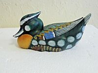 Wooden Hand Crafted & Hand Painted Mardarin Duck Great Outside & Indoor Decor
