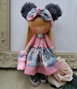 Rag doll handmade in the UK Tilda doll Ooak doll Art doll ELINOR 8 inch tall
