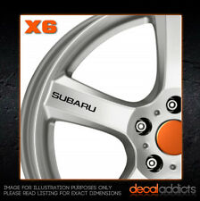 SUBARU Wheel Decals Stickers x6 - Imprezza WRX STI Legacy Outback