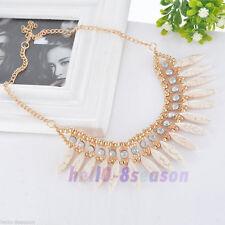 1PC Women Crystal Pendant Choker Chunky Statement Bib Necklace Chain