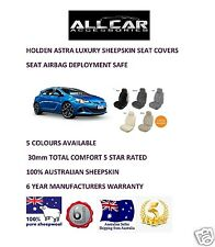 Sheepskin Car Seatcovers for Holden Astra, Five colours, Seat Airbag Safe 30mmTC