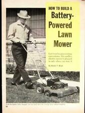 Battery Powered Lawn Mower 1963 How-To build PLANS Quiet