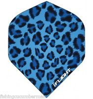 "RUTHLESS INVINCIBLE ""BLUE LEOPARD "" EXTRA STRONG DART FLIGHTS"