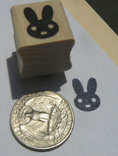 Bunny miniature rubber stamp.  P24