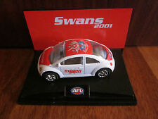 SYDNEY SWANS 2001 LIMITED EDITION AFL FOOTY CAR BEETLE BRAND NEW IN BOX