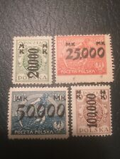 Poland Stamps 1923 Mhm Inflation Overprint (d,c)