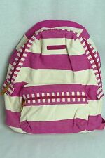 Tommy Hilfiger pink striped women girl backpack carry-on bag luggage
