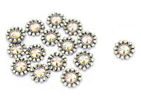 Silver Small Floral Shape Applique Beaded Sequin Applique Craft Supplies 1 Dozen