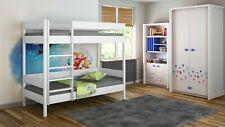 Bunk Beds Kids Children Juniors Single+Mattres140x70/160x80/180x80/180x90/200x90